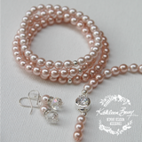 Linda Pearl Stacking Bracelet - Bridesmaid retinue gift (7 PEARL COLORS AVAILABLE) sold individually
