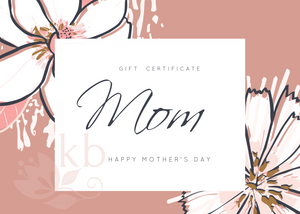 Mothers day Gift certificate personalized - Choose colors and your amount starting FROM: