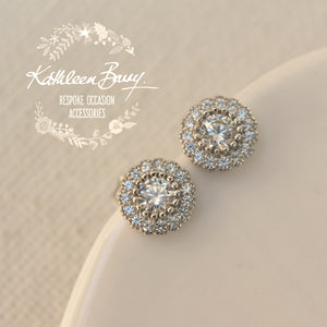 Maci Cubic Zirconia Parve set stud earrings - Limited stock available