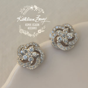 Margo Cubic Zirconia Parve set stud earrings - Limited stock available