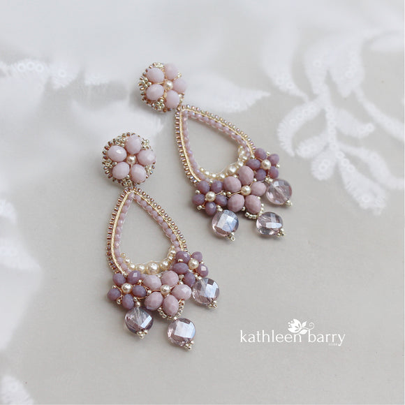 Marielle chandelier earrings - assorted colors available - Limited stock floral hoop earrings