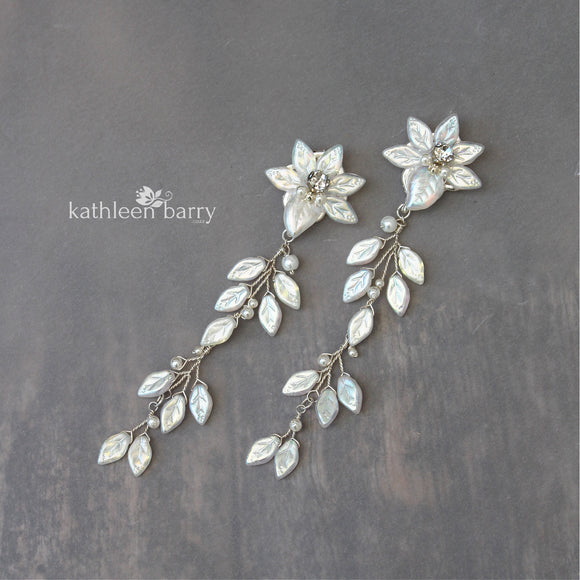 statement long wedding earrings bridal jewellery
