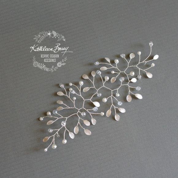 Maryke Hairpiece style wedding hair accessory - available in silver, gold, rose gold