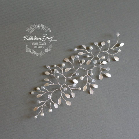 Maryke Hairpiece vine style wedding hair accessory - available in silver, gold, rose gold