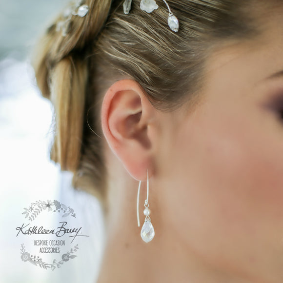 Melanie Crystal drop earrings - Sterling Silver, Gold Filled or Rose Gold Filled