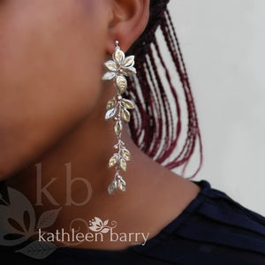 Merike Tier style chandelier leaf earring - Assorted finishes available