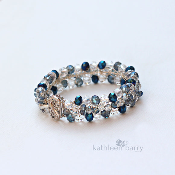 Michelle Crystal Bracelet - Crystal color options available