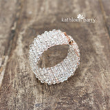Morgan crystal cuff bracelet - Available in Gold, Silver or Rose Gold