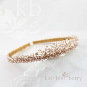 Natalie Tiara bridal crown - Clear and pearl (choice of colors)