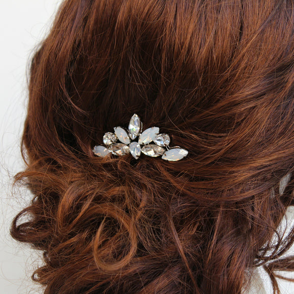 Nikki opalescent and clear rhinestone hair pin - Color options available