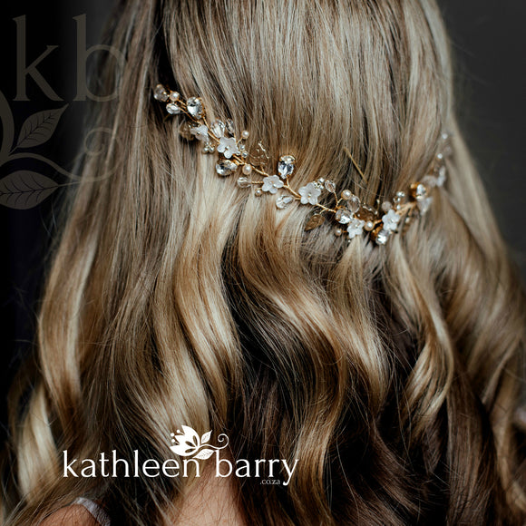 boho bride hair vine floral hair pin bridal wedding accessories