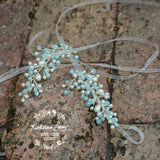 Rhoda barefoot sandals Beach wedding silver turquoise