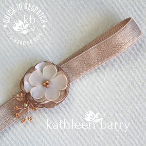 Shelby Taupe / nude / rose gold garter - color options available