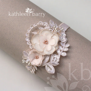 Tamzin Floral lace garter -  Color options available