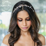 Tarryn Rhinestone Pearl Head piece - Silver, Gold or Rose Gold Options