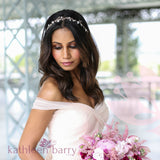 Tarryn Rhinestone Pearl Headband - Silver, Gold or Rose Gold Options