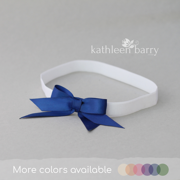 Bridal tossing garter Navy blue - assorted colors available, satin bow Sold individually