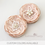Blush pink hair flower or brooch - Bride, flower girl, bridesmaid, mother of the bride or groom gifts