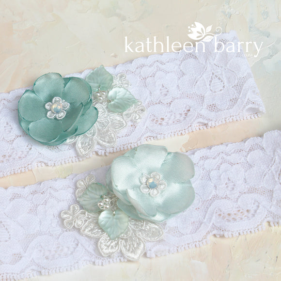 Aqua Mint Garter garter - two aqua shade options or your custom color (sold separately)