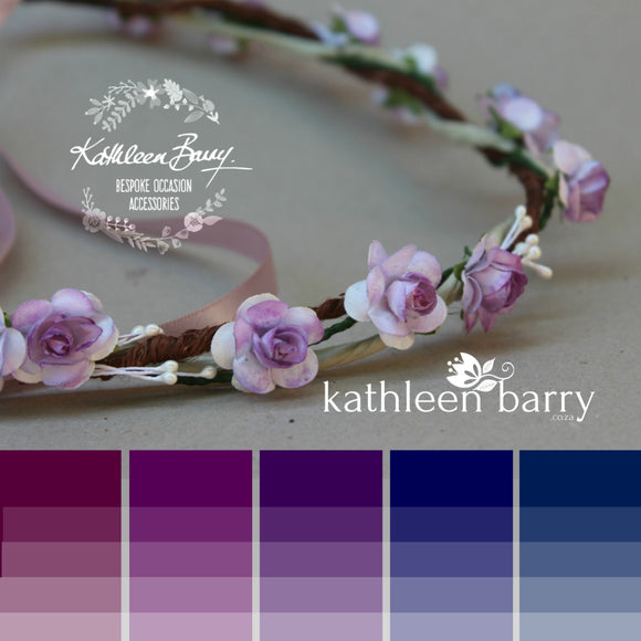 mauve and Ivory colors to order Shelly bridal hairpiece fascinator