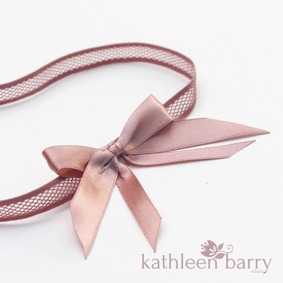 Dusty pink Bridal tossing garter - Bow color options
