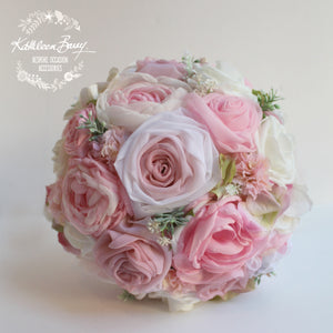 Heirloom Bridal Bouquet - Shades of pink