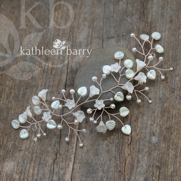 Eden pearly Hair Vine - Available in Silver, gold & Rose gold