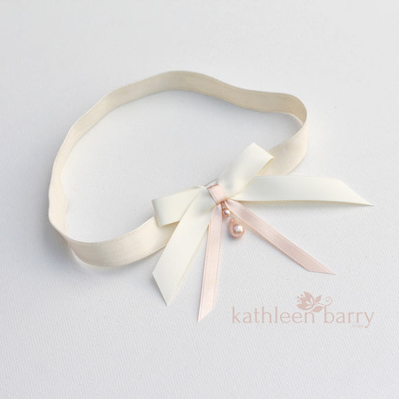 Juliana Bridal garter - assorted colors available, satin bow