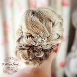 Amy Bridal hair pin - Colors to order - Sold Individually Silver, gold or rose gold