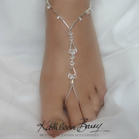 Barefoot Jewellery Sandals for Brides and bridal party - style 006 - (Pair)