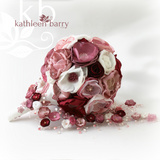 Heirloom Bridal Bouquet - Burgundy dusty pinks & shades of pomegranate