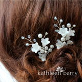 Monica pale blue hair pins mix and match - 3 styles - Rose gold, Gold or silver (sold individually)