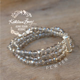 Evelyn Crystal Multi-Strand Bracelet - Color options available