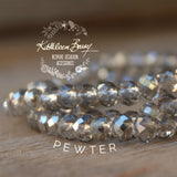 Evelyn Crystal Multi-Strand Bracelet - Color options available silver or gold