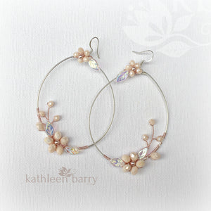 Quinn floral hoop earrings - color & metallic options available (two sizes)