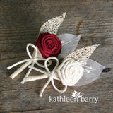 Boutonniere or corsage - lapel pin - color options available - everlasting sold individually