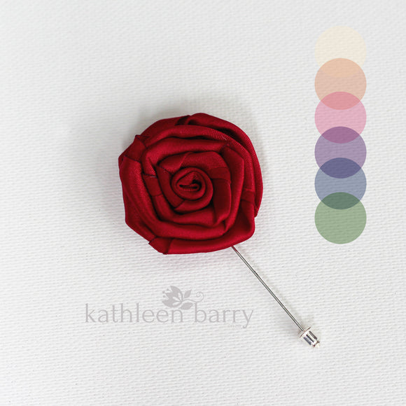 prom groom lapel pin matric dance colors to order