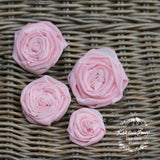 Small Rose hair clips - assorted colors (set of four)