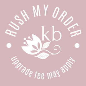 "Rush order upgrade - for items not in ""Quick to despatch"" collection"