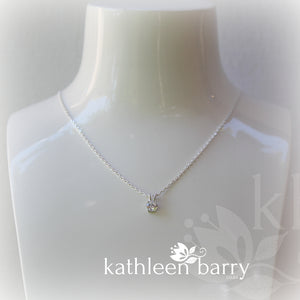 Solitare Cubic Zirconia pendent sterling silver (sold individually)