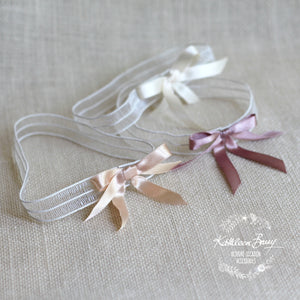 Bridal tossing garter - assorted colors available, satin bow