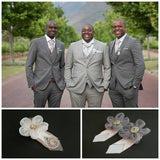 Boutonniere or corsage - lapel pin - pink grey - color options available - everlasting
