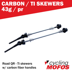 MOFO QR - Carbon/Ti Quick Release Levers (Pair)