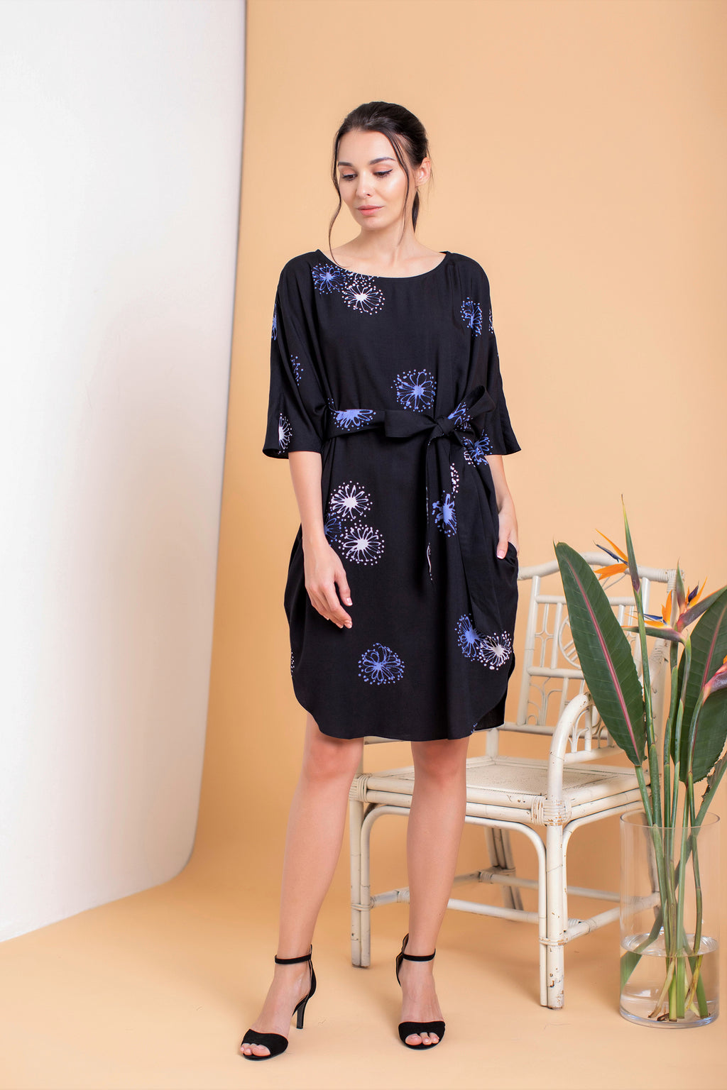 Ann Batwing Dress