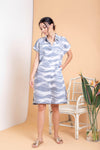 Waves Boxy Shirt Dress