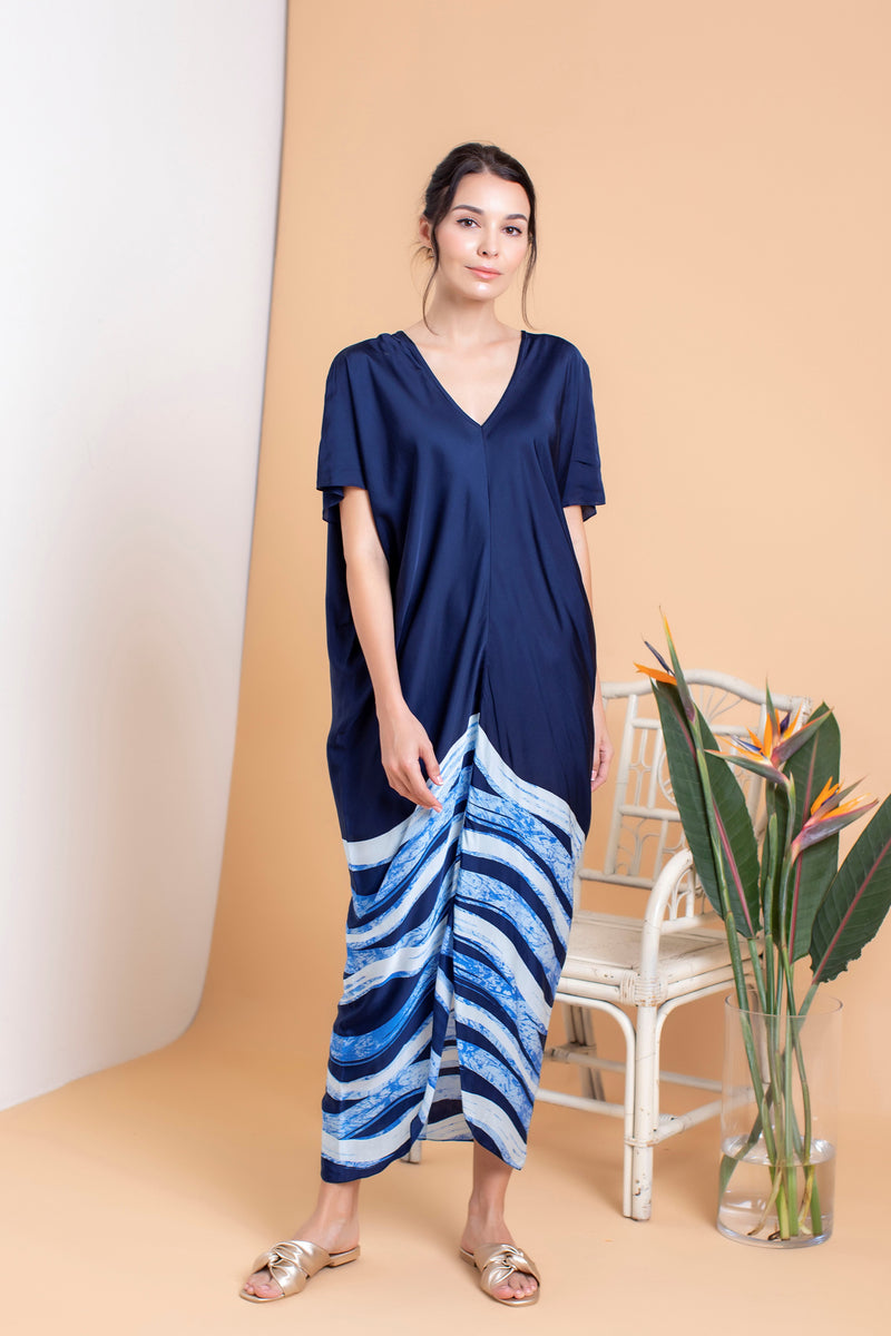 Waves Drape V Kaftan