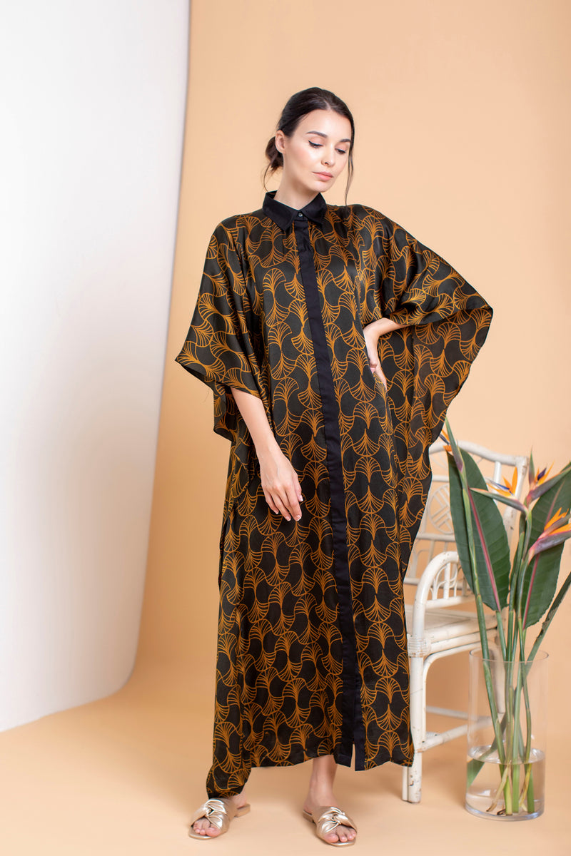 Diane Button Down Kaftan - FERN
