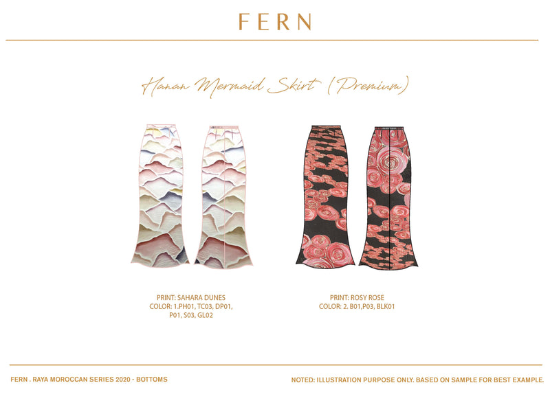 Hanan Mermaid Skirt - FERN