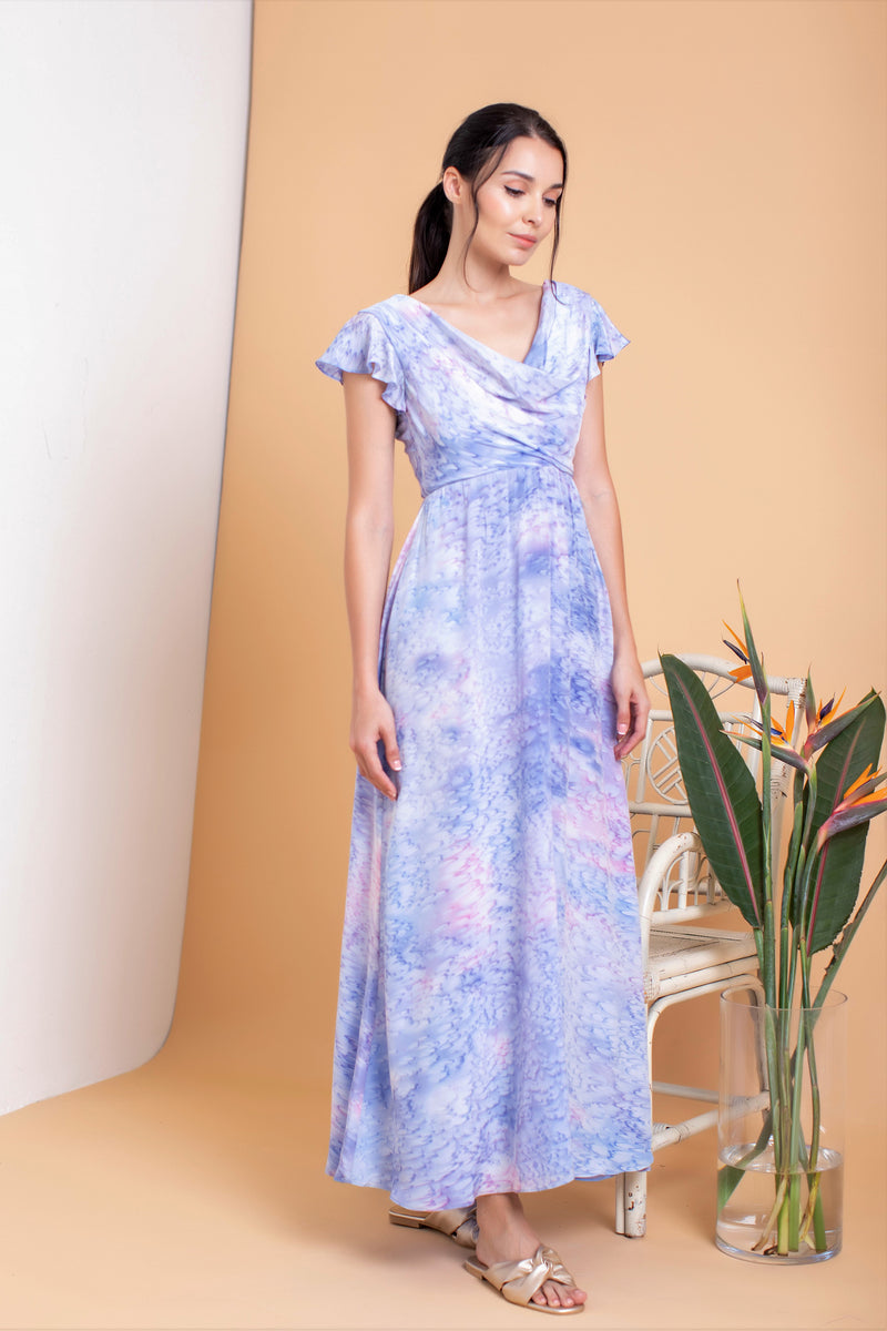 Audelia Cowl Maxi Dress
