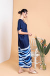 Waves Drape V Kaftan - FERN